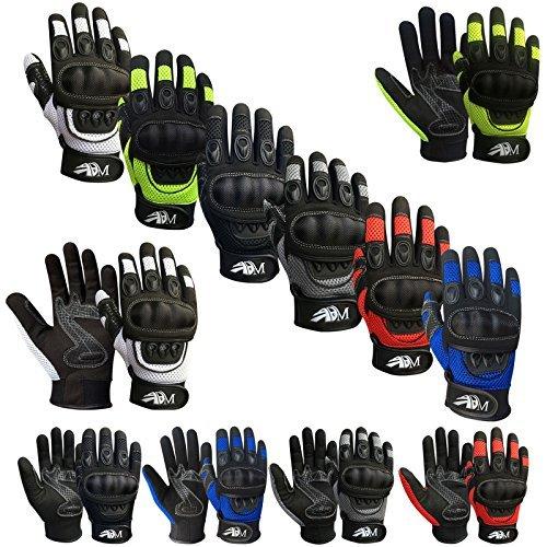Prime Leather Guanti per Moto, per Quad (ATV), per Arrampicata,Escursioni ,Mtb e Altri Sport...