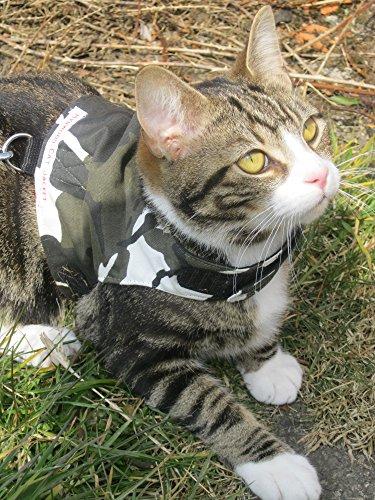 Arnés para gatos, de Mynwood, con diseño de camuflaje polar, para adultos, a prueba de escapes