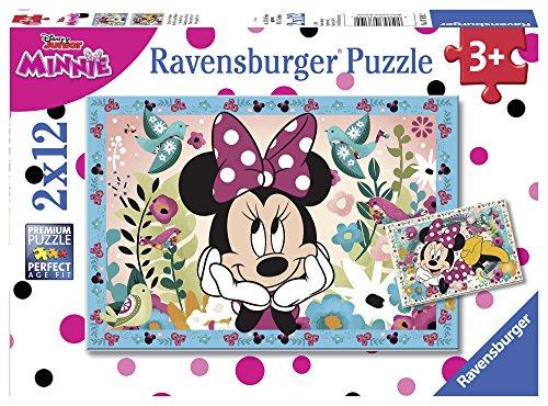 Ravensburger Italy Disney Classics Minnie Puzzle da 2x12 Pezzi, 07619