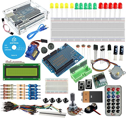 Overview: This is a very good kits for starter to study MCU programing . With This Arduino Uno R3 Starter Kit, you are able to learn and do many experiment such as lighting up the LED, then get the LED to be a output display, and interact wit...