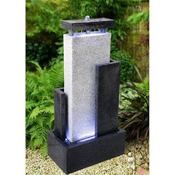 Zen Luz Paredes CPM2C - Fuente de Pared de Agua, 46 x 27 x 90 cm, Color: Blanco/Negro 5