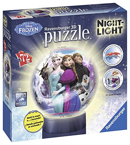 Ravensburger Italy Disney Frozen Puzzle 3D Lampada Notturna, 12190