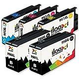 Ilooxi 5x Druckerpatronen kompatibel für HP 950 XL HP 950XL HP 951 XL HP 951XL für HP Officejet Pro 8620 8610 8600 Plus 276dw 8100 8615 251dw 8625 8660 8640 8630 Drucker Tintenpatronen (2x Schwarz, 1x Cyan, 1x Magenta, 1x Yellow)