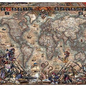 Educa Borrás Puzzle 2.000 piezas, Mapa de piratas, color variado, 2000 18008