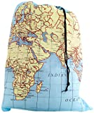 Kikkerland Travel Laundry Bag - World Map
