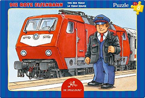 Spiegelburg Piccoli Puzzle, 8 pezzi (Trenino rosso)