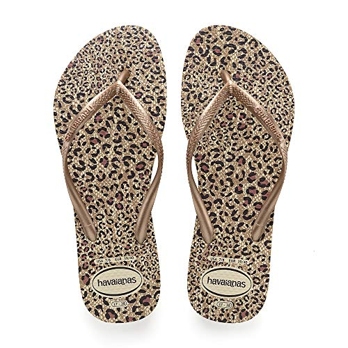 Havaianas Slim Animals, Infradito Donna, Multicolore (Beige/Rose Gold/Rose Gold 5046), 37/38 EU (...