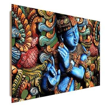 Feeby Frames, Cuadro de pared, Cuadro decorativo, Cuadro impreso, Cuadro Deco Panel, ESTATUA BUDA, ZEN, INDIA, ORIENTE, MULTICOLOR 3