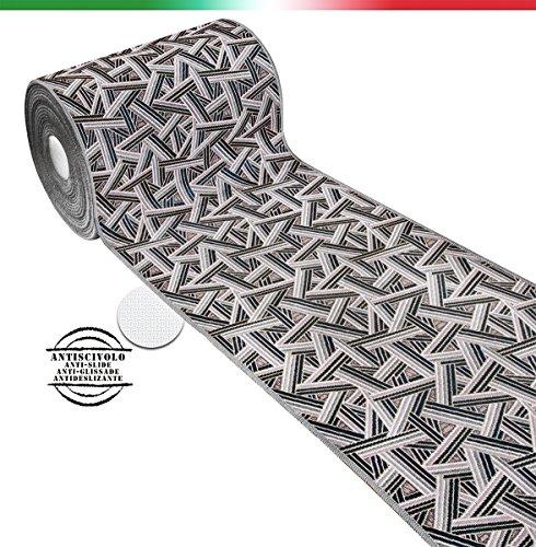 Tappeto cucina moderno SU MISURA AL METRO h54 cm tessitura piatta bordato retro antiscivolo...