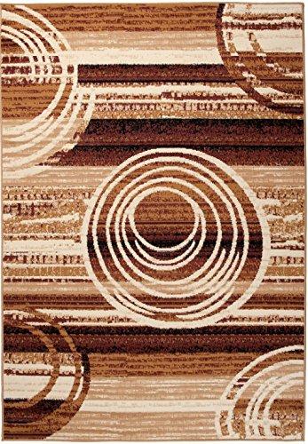 Carpeto Rugs Tappeto 130 x 190 cm beige Moderno Strisce Monaco Collezione