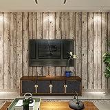 HANMERO Papier Peint Vinyle Motif de Bois Naturel pour Chambre Salon TV Fond-0.53m*10m-2 Couleurs au Choix