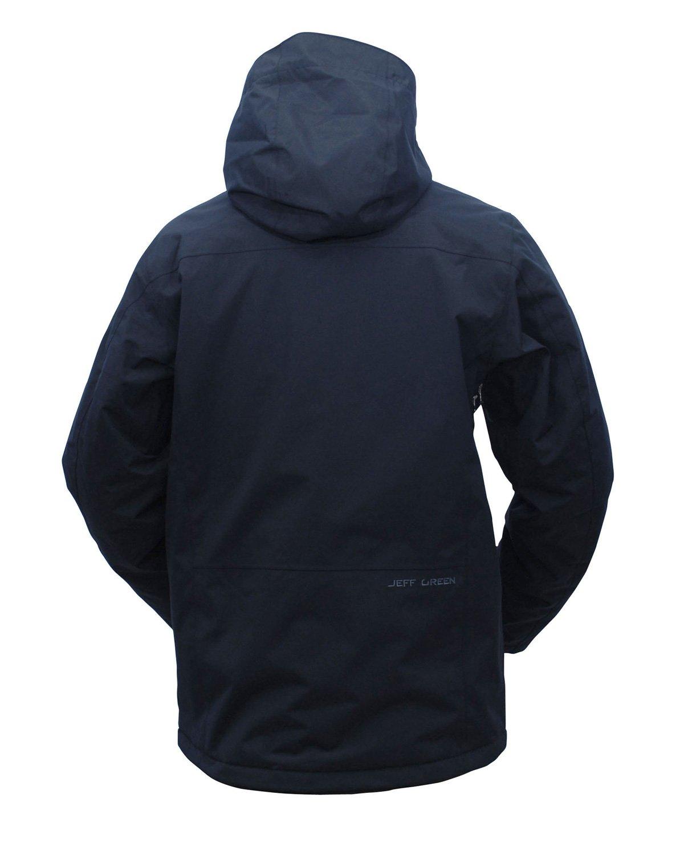 online store c13d5 8a9df Jeff Green Giacca Invernale da Sci Uomo Bergen Traspirante Impermeabile  Colonna d'Acqua 12.000 mm e Cappuccio Staccabile