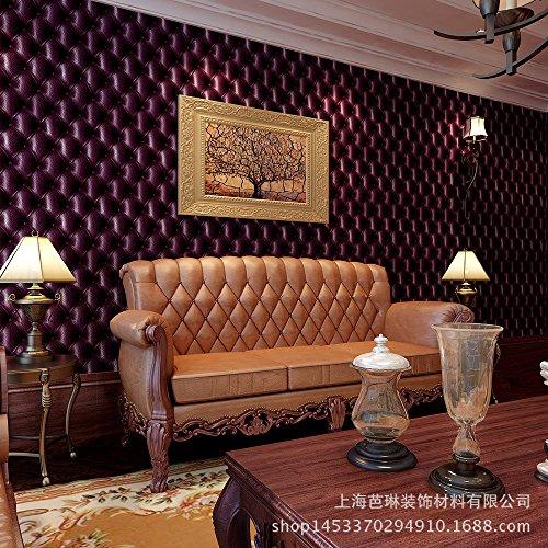MDDW-Simulato in pelle morbido divano salotto TV sfondo carta da parati camera da letto carta da parati wallpaper , purple