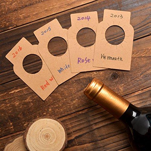 Etichette della bottiglia di vino della carta kraft - 200 etichette della cantina per vini della...