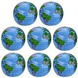 8 Pièces Globe Gonflable PVC Globe Terrestre...