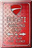 Targa in metallo Ducati Parking Only 20x 30cm reklame Retro Targa in 186