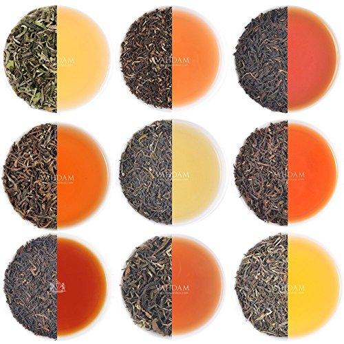 VAHDAM, Darjeeling Tè Sampler - 10 TEAS, 50 porzioni | Foglia sciolta al 100% puro non Darjeeling Unblended | Darjeeling First Flush, Second Flush, Autumn Flush - Brew Hot o Iced - Tea Variety Pack, 100g
