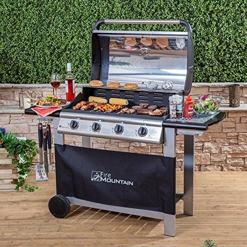 Our best pick the Fire Mountain Everest 4 Burner Gas Barbecue is a decently priced gas bbq that is known for superior performance, build quality and affordability. You will surely love it starting from assembly which takes around 1-2 hours to the actual cooking. It is quite a large bbq, which arrives flat packed. You will need to set aside an hour or so to put it together and a few tools such as an adjustable wrench and head screwdriver will come in handy. The task is not that daunting, albeit several parts to fit together and any skilled DIY person should find it easy enough and even the less experienced shouldn't find it too difficult.