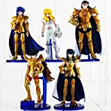 LOT de 5 figurines Les Chevaliers du Zodiaque Shiryu Shun Hyoga Jabu