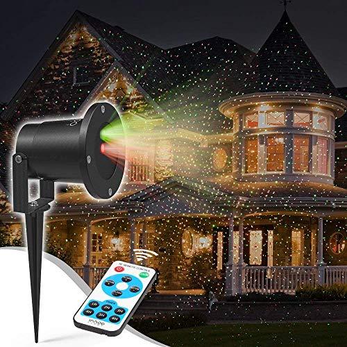 Proiettore Luci Natale, Proiettore Natale Esterno Impermeabile IP65 con Telecomando, Proiettore...