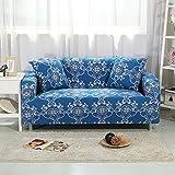Antideslizante del estiramiento sofa slipcover,Funda de sofá de cuero vintage cuatro temporadas europea cojín de sofá de cobertura completa para protección de muebles de sala para 1 2 3 4 cojines sofá-G 4 plazas