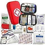 VOOA Trousses de Secours - Kits Premiers Secours 18 pièces avec Couverture d'urgence,Bandage élastique et tampons d'alcool pour Maison, l'automobile,Camp,Sauvage et Bureau
