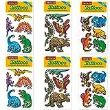 6-teiliges Tattoo-Set * Dinos * vom Mauder-Verlag | Kinder Kindertattoo Kindergeburtstag Geburtstag Mitgebsel Geschenk Tiere Dinosaurier T-Rex