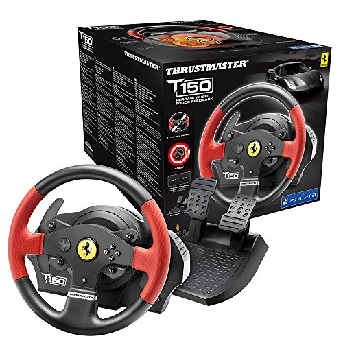 Thrustmaster T150 Ferrari Edition (Lenkrad inkl. 2-Pedalset, Force Feedback, 270° - 1080°, PS4 / PS3 / PC)