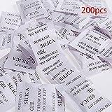 200pcs Sachets de gel de silice Dessicatif Absorber l'humidité Multipurpose Séchage Agent Sacs