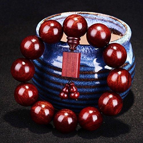 ZH Bracciale perline in legno di palissandro Lobular Parquet realizzato a mano in legno di...