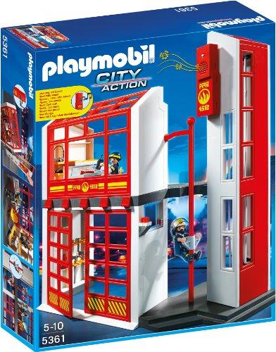 PLAYMOBIL 5361 - Feuerwehrstation mit Alarm