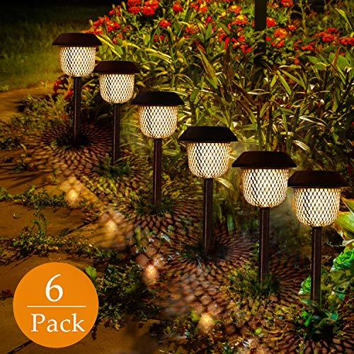 Golwof 6669, Lampada solare da giardino, plastica ABS e acciaio inossidabile, Bronzo, 12 x 12 x...