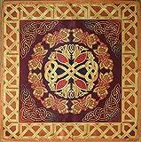Manteles Serie antiguos celtas temporadas. Primavera - Flourish 16х16 Cloth Wicca pagano bruja chal