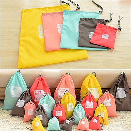 4 bolsas de viaje impermeable bolsa con cord n para - Bolsas para ropa ...