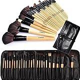 Brochas de Maquillaje,Cadrim 24pcs Maquillaje Profesional Pinceles Maquillaje de Ojos Rubor Contorno de los Labios Corrector Brochas Cosméticas + Bolso Negro