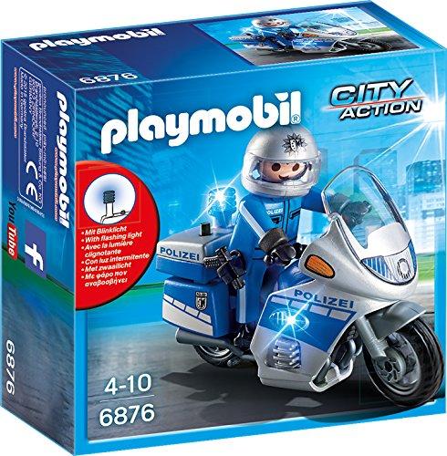 PLAYMOBIL 6876 - Motorradstreife mit LED-Blinklicht
