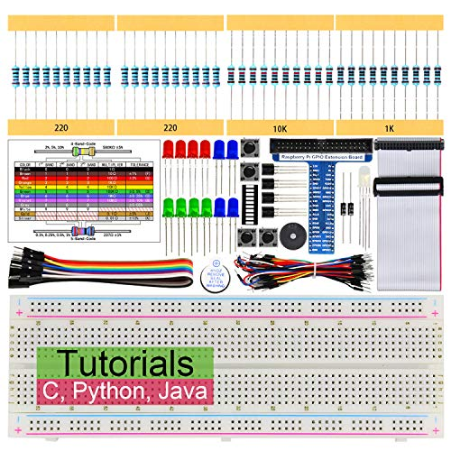 Freenove Basic Starter Kit for Raspberry Pi 3 B+, 147 Pages Detailed Tutorials, Python C Java, 146 Items, 17 Projects, RPi 3B+ 3B 3A+ 2B 1B+ 1A+ Zero W