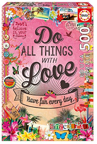 Educa Borrás - 500 Do All Things with Love, Puzzle (17086)