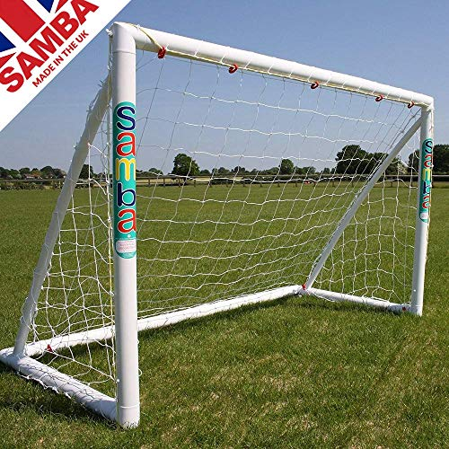 A remarkable goal from a trusted manufacturer, it comes supplied with everything you need to get into the action. The goal is made from a high impact plastic that can withstand all kind of abuse, whether inclement conditions or powerful shots.