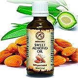 Mandelöl 100ml - Kaltgepresst - Rein und Natürlich - Mandel Öl - Intensive Pflege für Gesicht - Körperöl - Haare - Haut