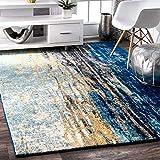 Status 5 x 7 Feet Multi Printed Vintage Persian Carpet Rug Runner for Bedroom/Living Area/Home with Anti Slip Backing