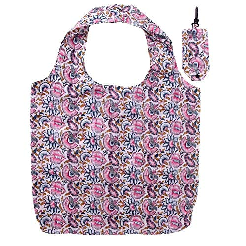 Duze Reusable Eco Fold up Shopping,Grocery Bag,Water Proof, Strong and Durable with Pouch & Clip Attachment