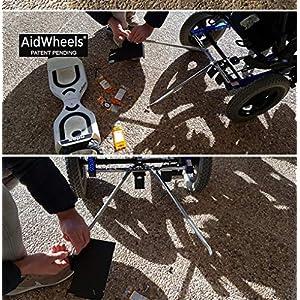 Adaptador de patinete electrico hoverboard AidWheels para silla de ruedas Quickie Iris