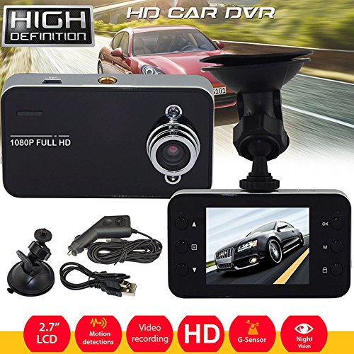"Leoie Car Dvr Camera,2.7"" Car Dash Cam DVR 1080P Full HD Vehicle Safety Video Recorder Night Vision"