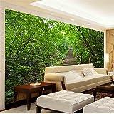 Abihua Wandbilder 3D Wallpaper Benutzerdefinierte Foto Mural Wohnzimmer Leiter Waldlandschaft 3D Malerei Sofa Hintergrundbild Für Die Wand 3D 280Cm X 180Cm