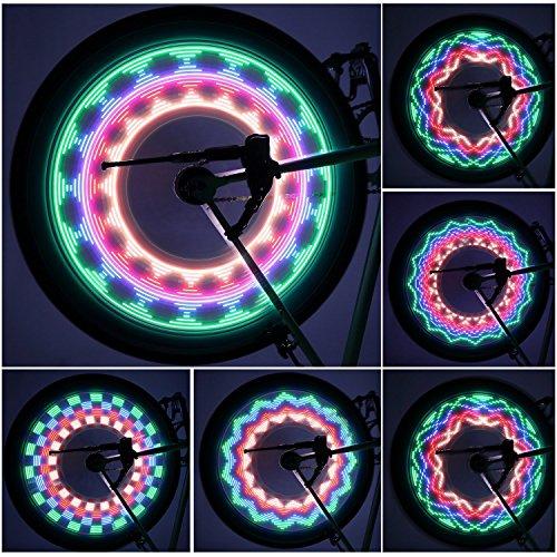 OUTAD Luci Ruote Bici / Luci a LED per Bicicletta, 32 LED, 32 Grafiche Diverse, Impermeabile,...