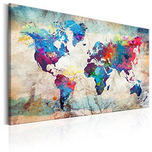 murando Mappamondo 120x80 cm 1 Parte Lavagna di Sughero & Quadro su Tela TNT XXL Stampa Bacheca...