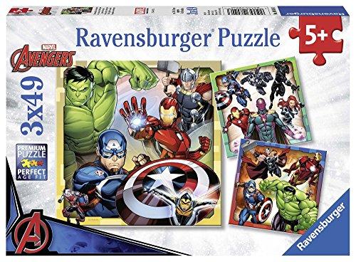 Ravensburger Italy Marvel Avengers Puzzle da 3x49 Pezzi, 08040