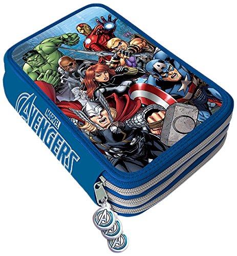 Viscio Trading 170966 Astuccio Zip Avengers, Txt Poliestere/Legno/Cera/Inchiostro, Multicolore,...