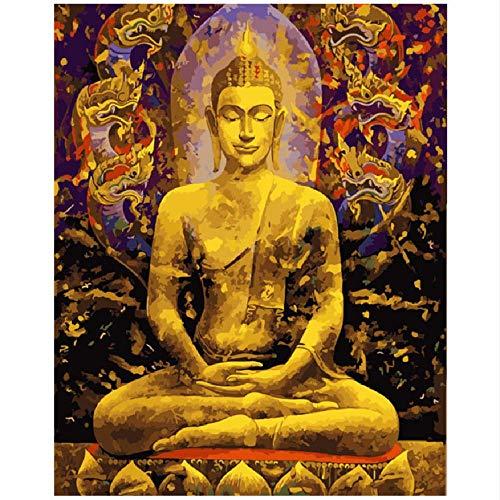 CCEEBDTO Jigsaw Puzzle 1000 Piece Fai da Te Zen Master Meditation Day Figure Canvas Wedding Art...